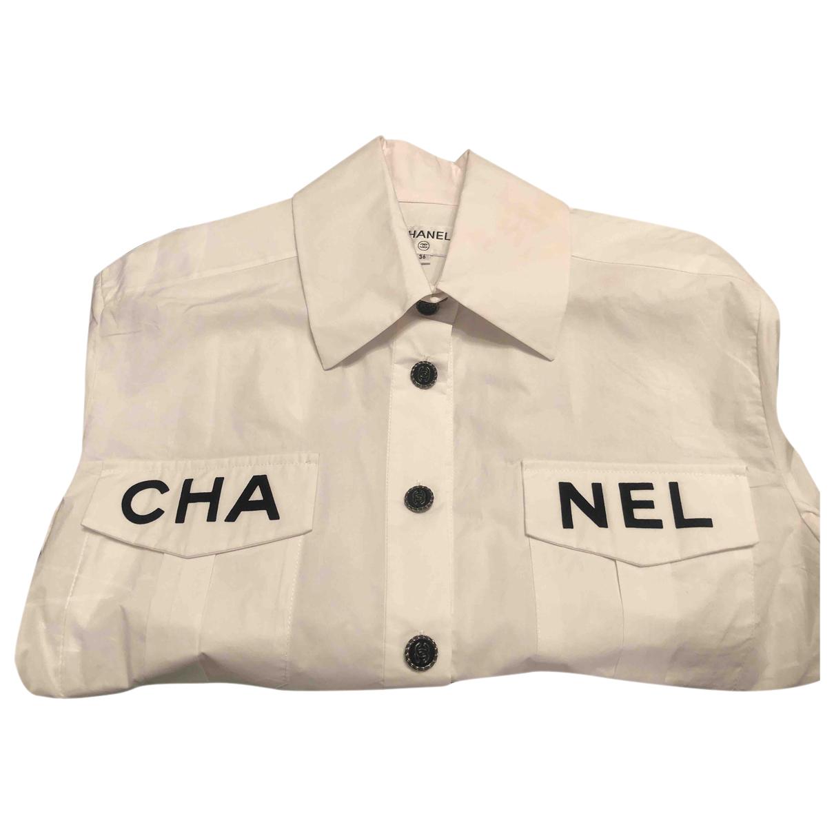 Chanel - Top   pour femme en coton - blanc