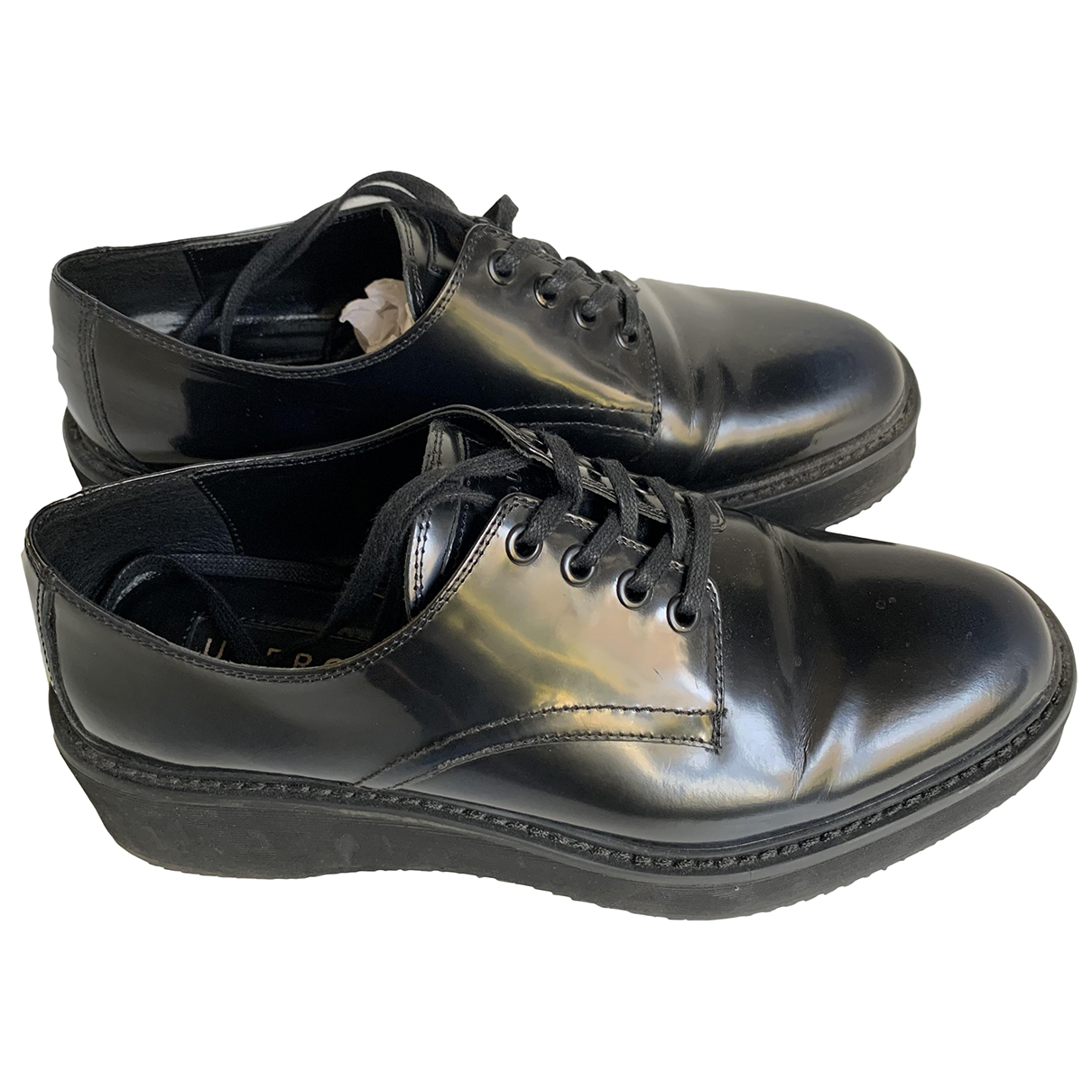 Uterque N Navy Leather Lace ups for Women 39 EU
