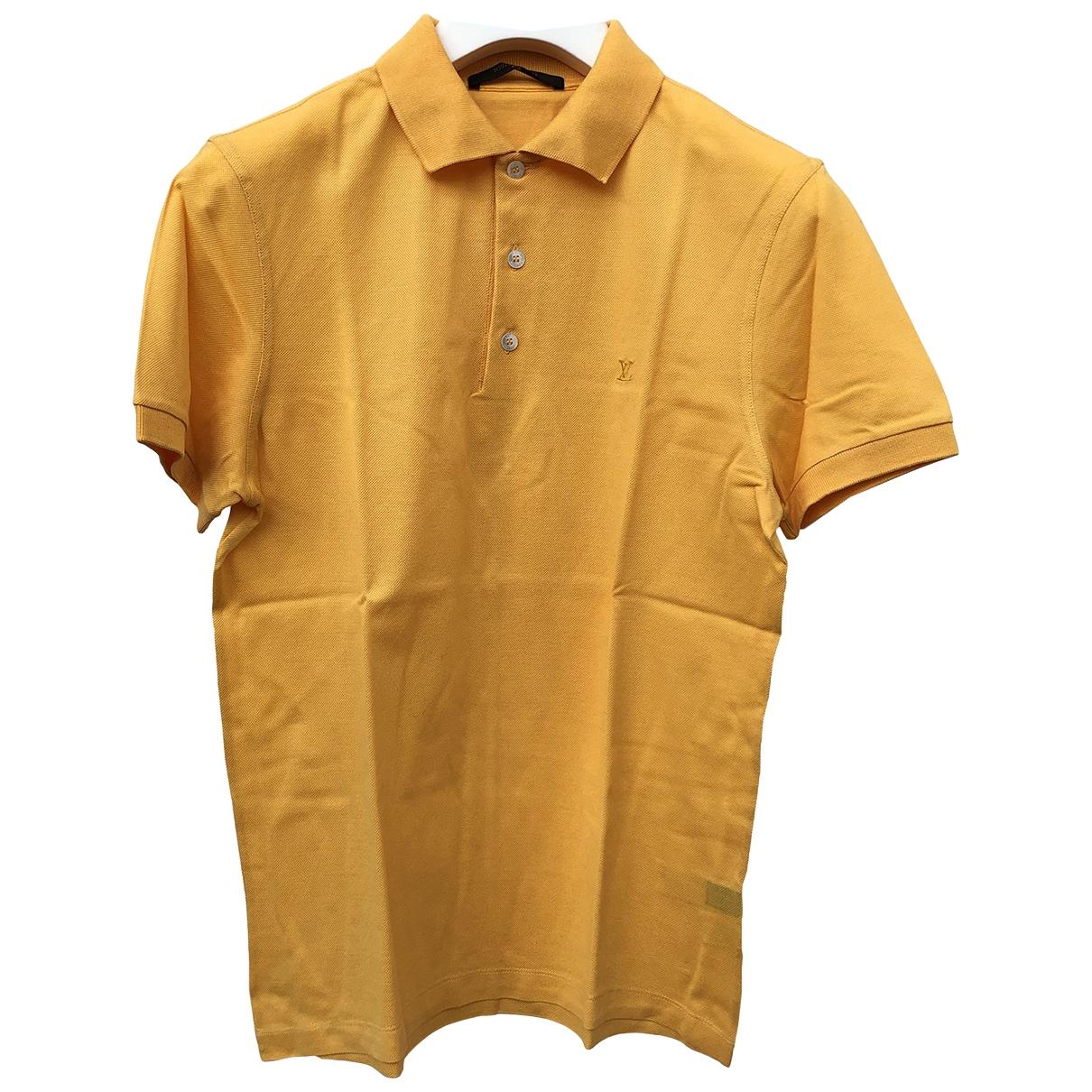 Louis Vuitton - Polos   pour homme en coton - jaune