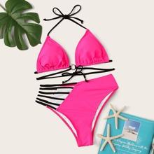 Triangle High Waist Bikini Swimsuit