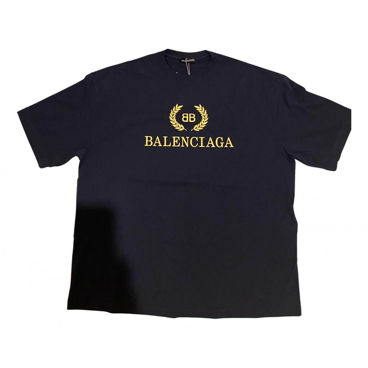 Balenciaga N Navy Cotton T-shirts for Men XL International