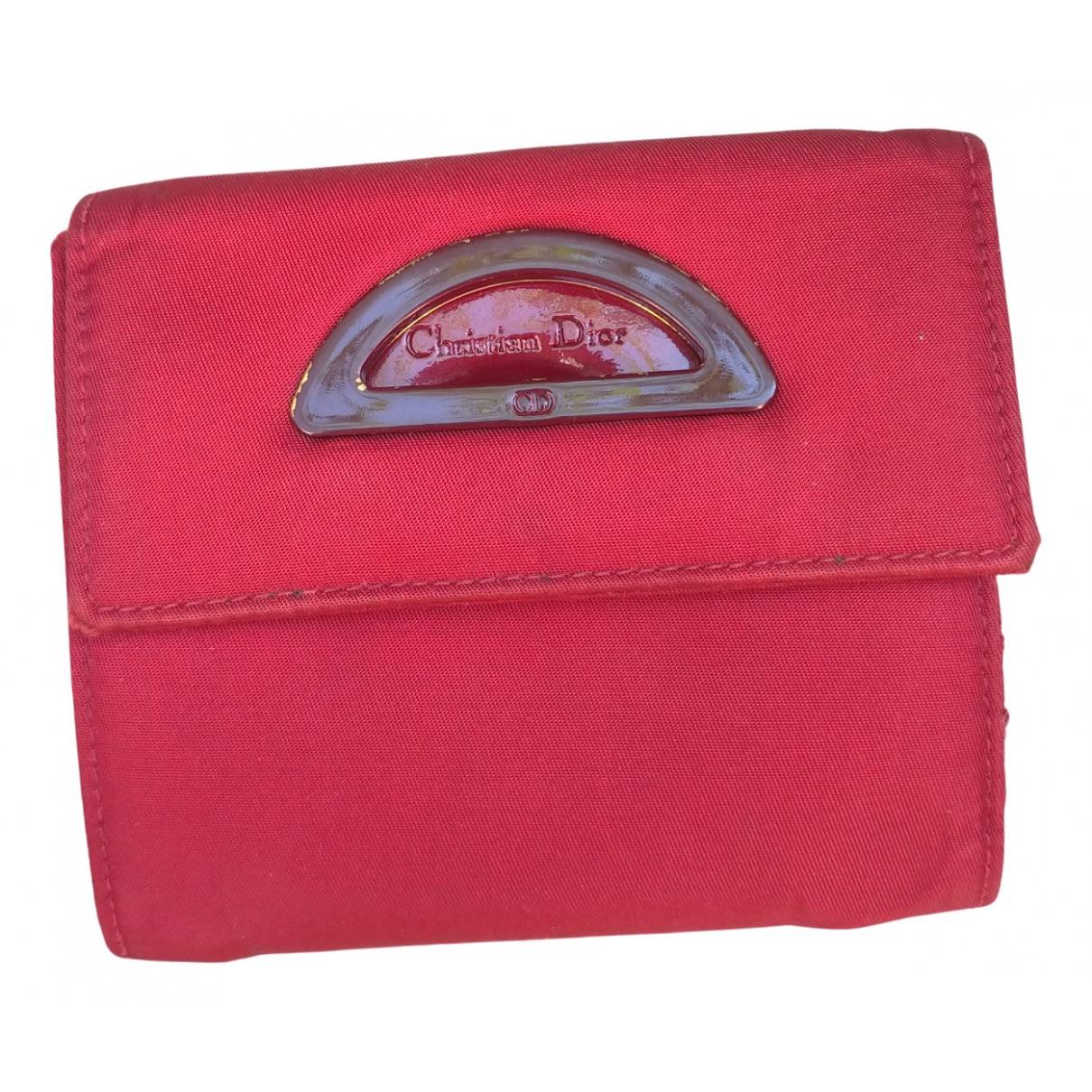 Dior \N Portemonnaie in  Rot Leinen