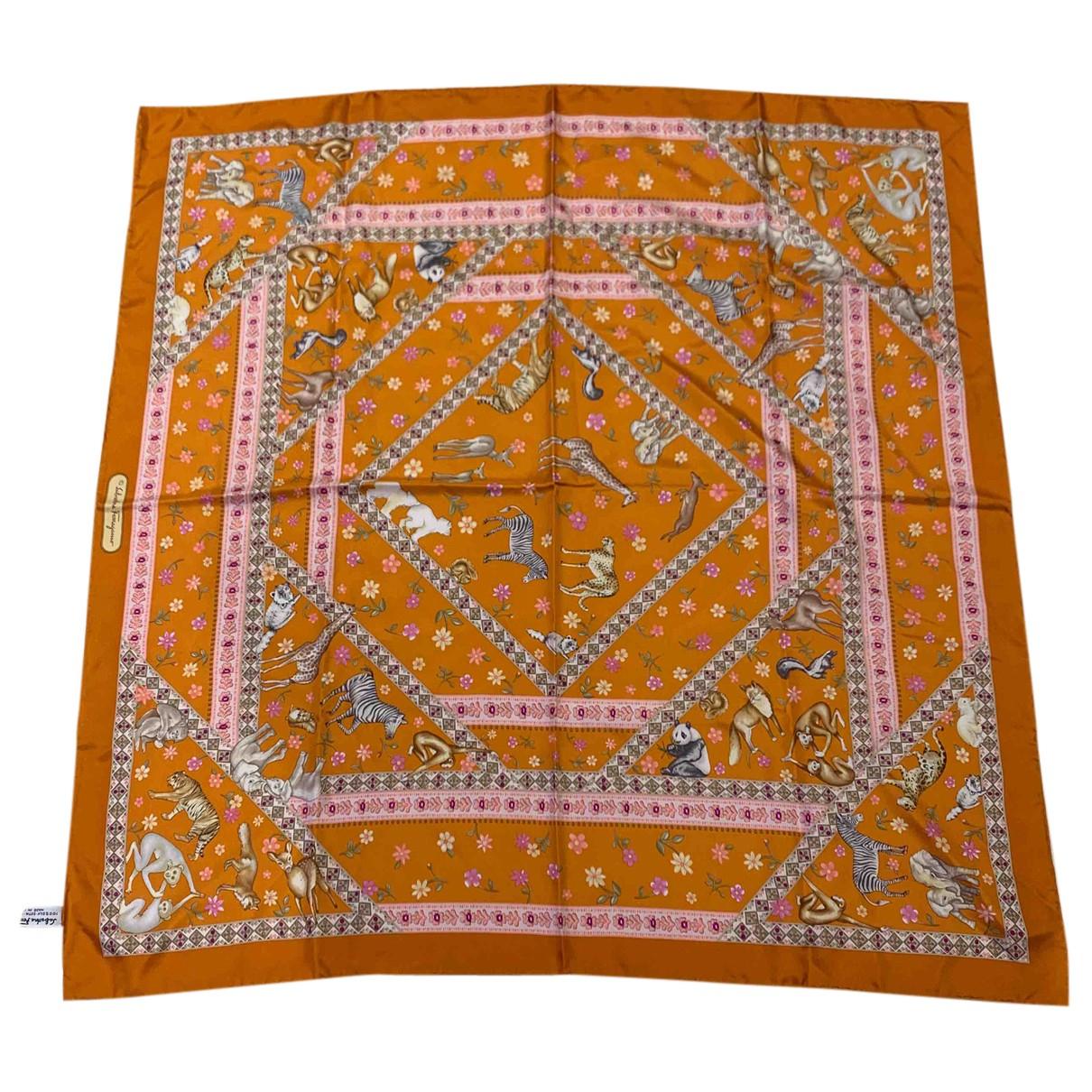 Salvatore Ferragamo N Orange Silk scarf for Women N