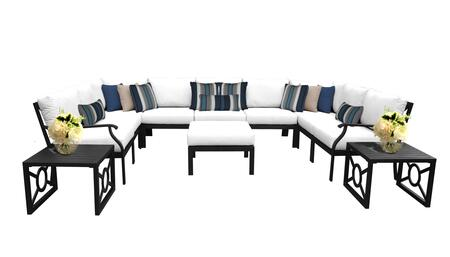 MADISON-12g-WHITE Kathy Ireland Homes and Gardens Madison Ave. 12 Piece Aluminum Patio Set 12g with 1 Set of Snow and 1 Set of Alabaster