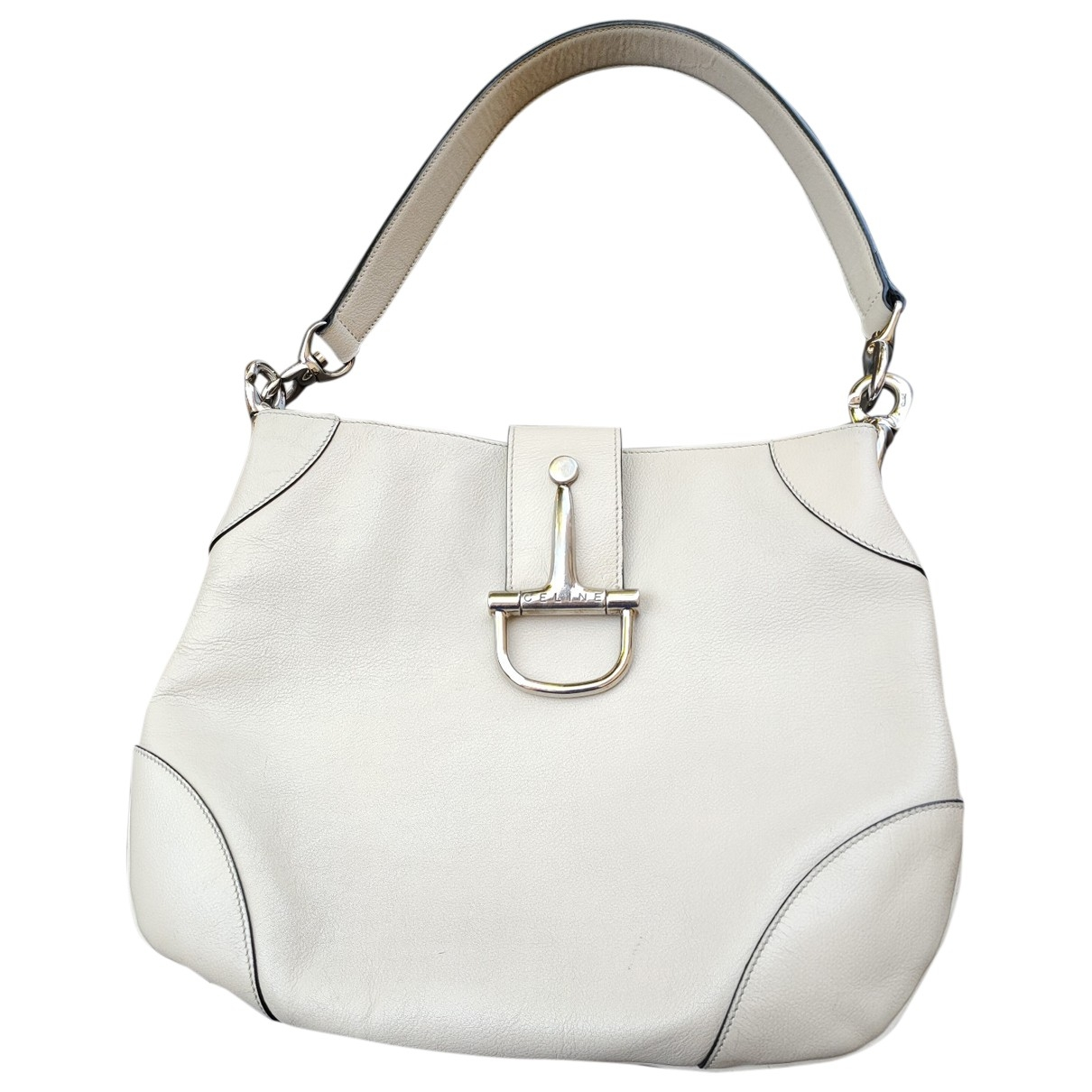 Celine \N Ecru Leather handbag for Women \N