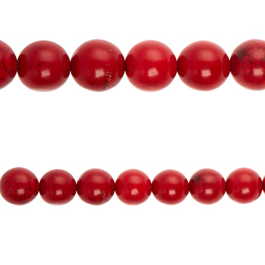 Bead Gallery® Ruby-Dyed Round Beads, 22Mm | Michaels®