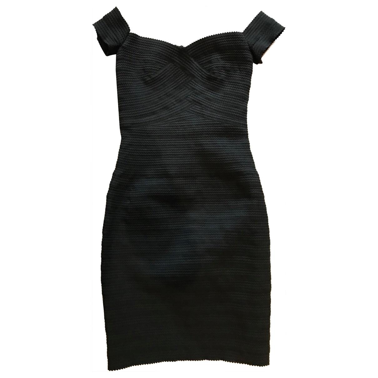 Reiss \N Kleid in  Schwarz Baumwolle - Elasthan