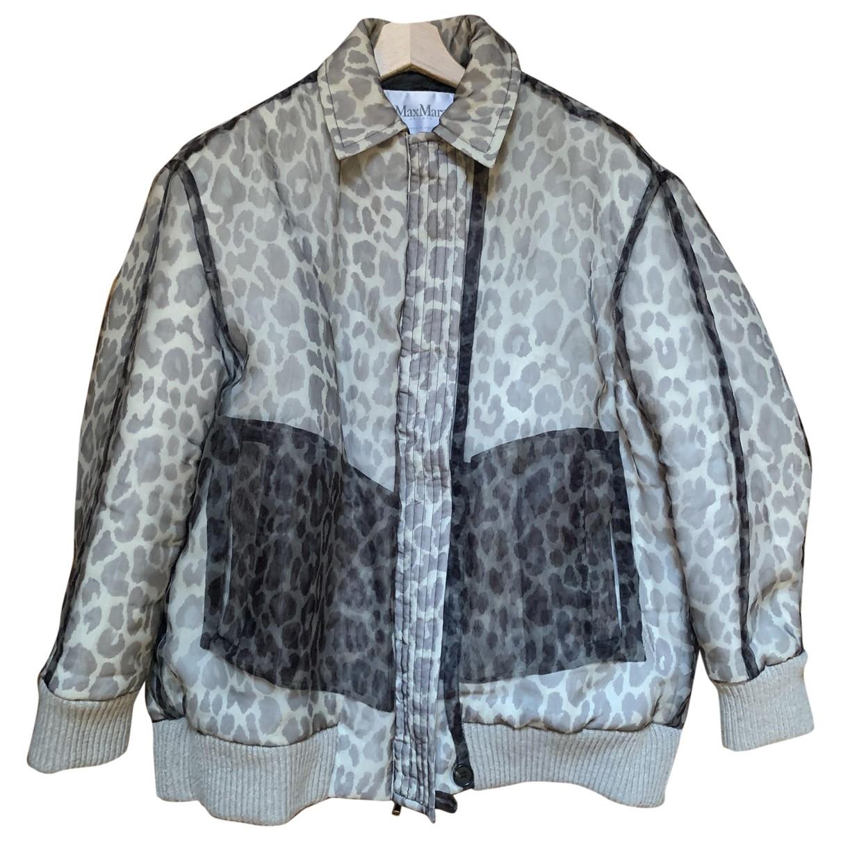 Max Mara \N Jacke in  Grau Polyester