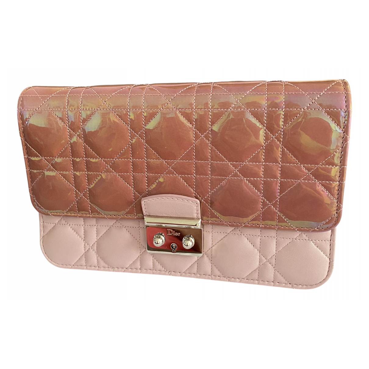 Dior Miss Dior Pink Leather Clutch bag for Women N