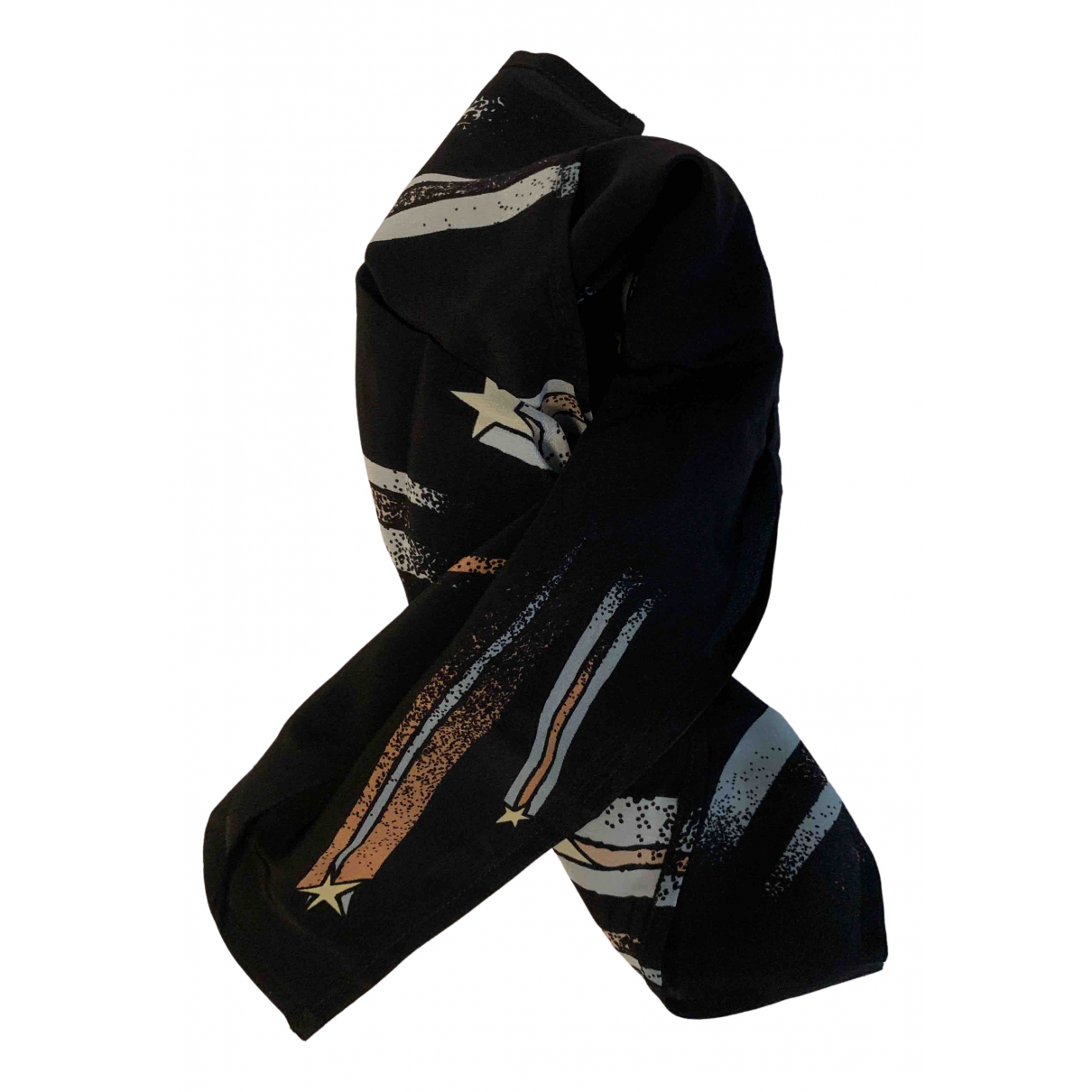 Rockins - Foulard   pour femme en soie - noir