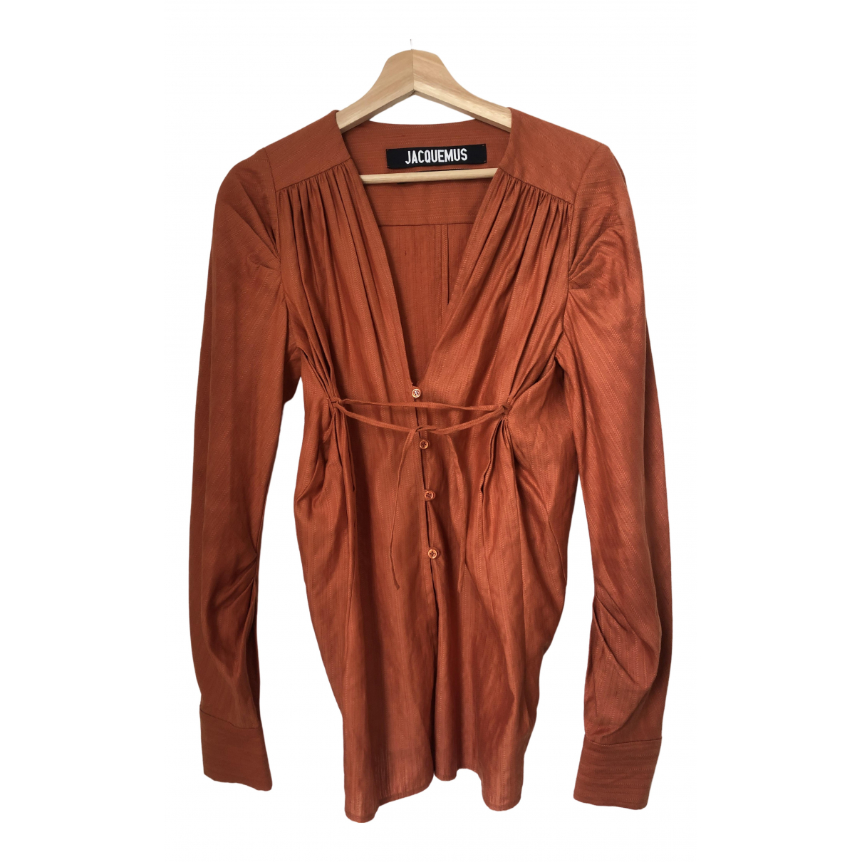 Jacquemus Le Souk Top in  Orange Leinen