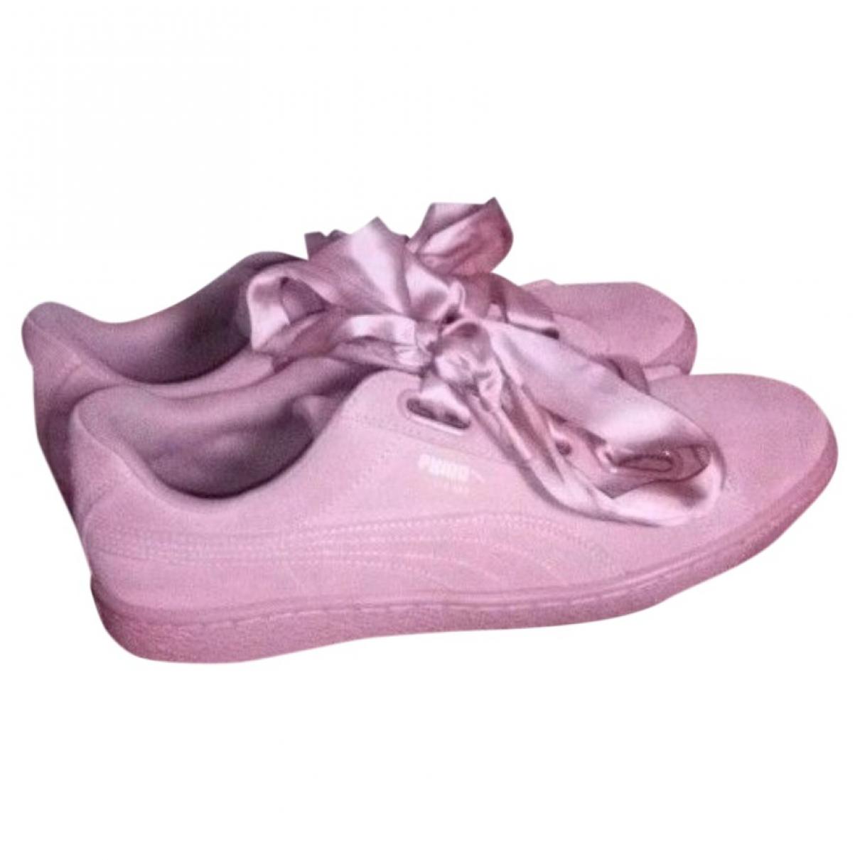 Puma \N Sneakers in  Rosa Veloursleder