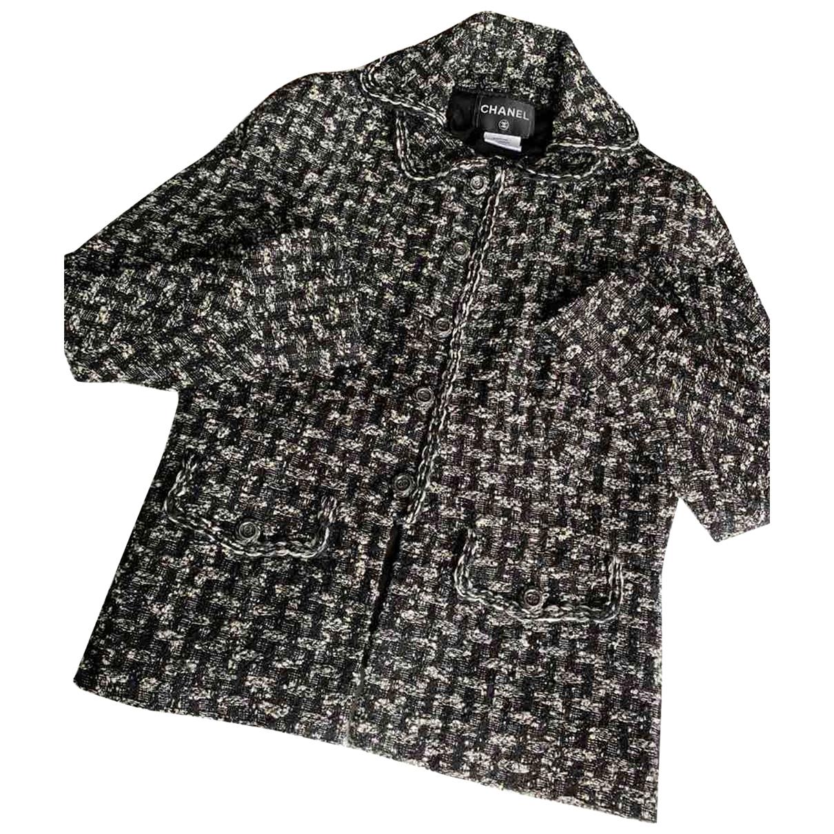 Chanel \N Grey Tweed jacket for Women 48 FR