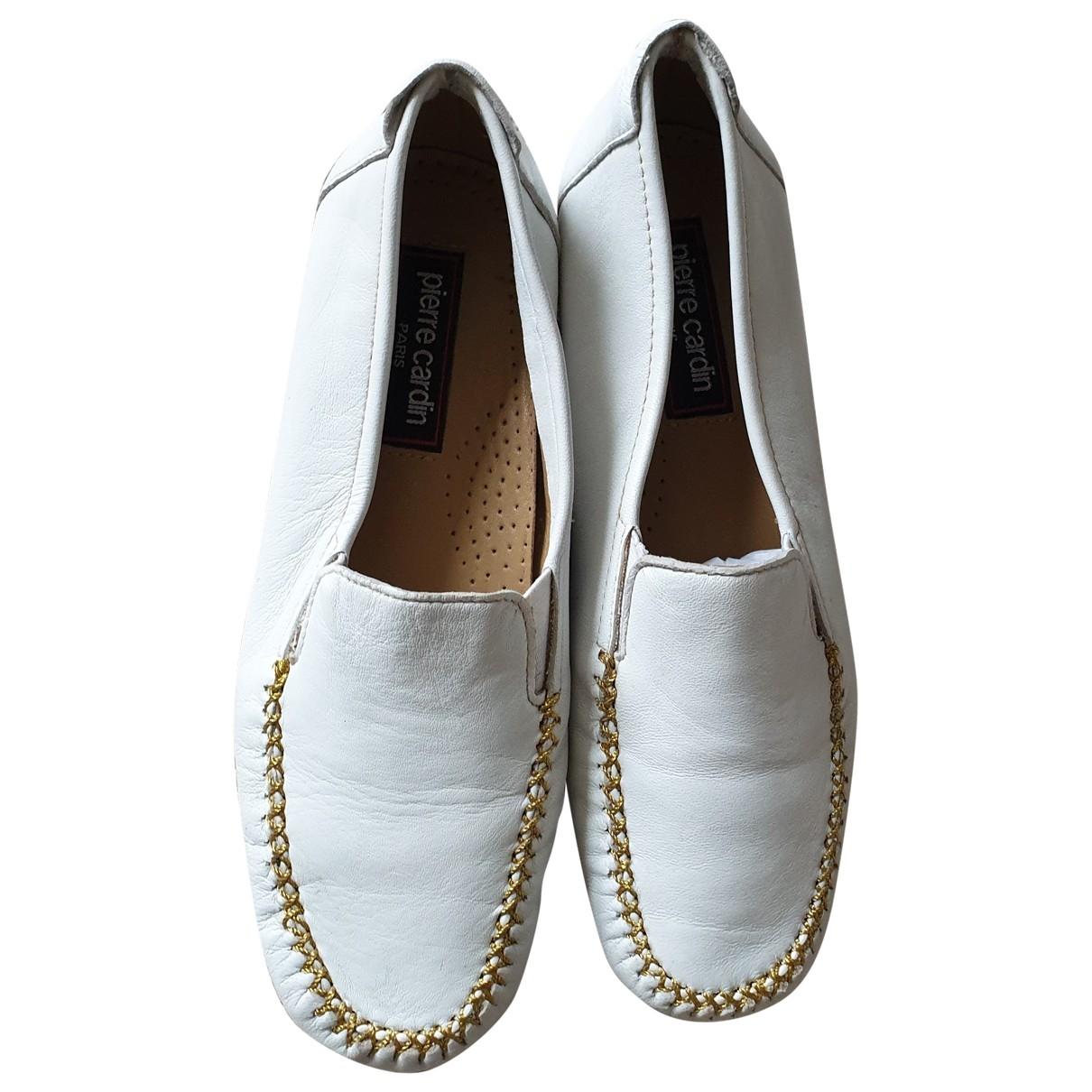 Pierre Cardin - Mocassins   pour femme en cuir - blanc