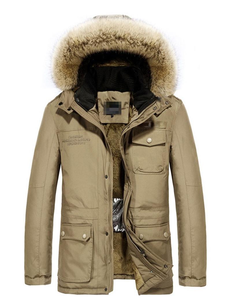 Ericdress Color Block Hooded Zipper European Men's Down Jacket