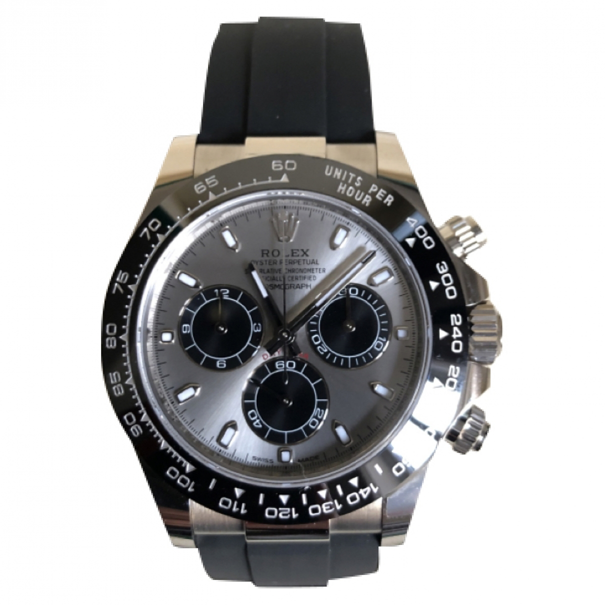 Rolex Daytona Grey White gold watch for Men \N