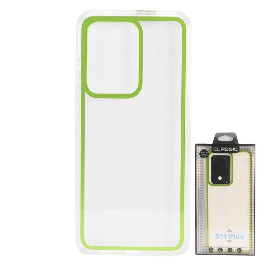 Insten Bumper Acrylic Clear Plastic TPU Case For Samsung Galaxy S20 Ultra - Green (Green)