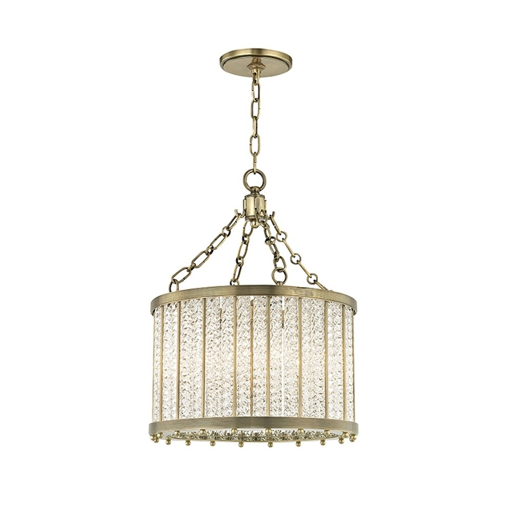 Hudson Valley Shelby 4-light Aged Brass Pendant (Aged Brass)
