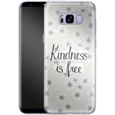 Samsung Galaxy S8 Plus Silikon Handyhuelle - Kindness is Free von Barlena
