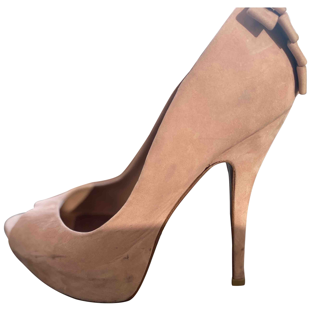 Schutz \N Pink Suede Heels for Women 39 EU