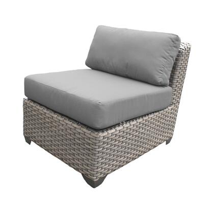 TKC055b-AS-GREY Florence Armless Sofa with 2 Covers: Grey and