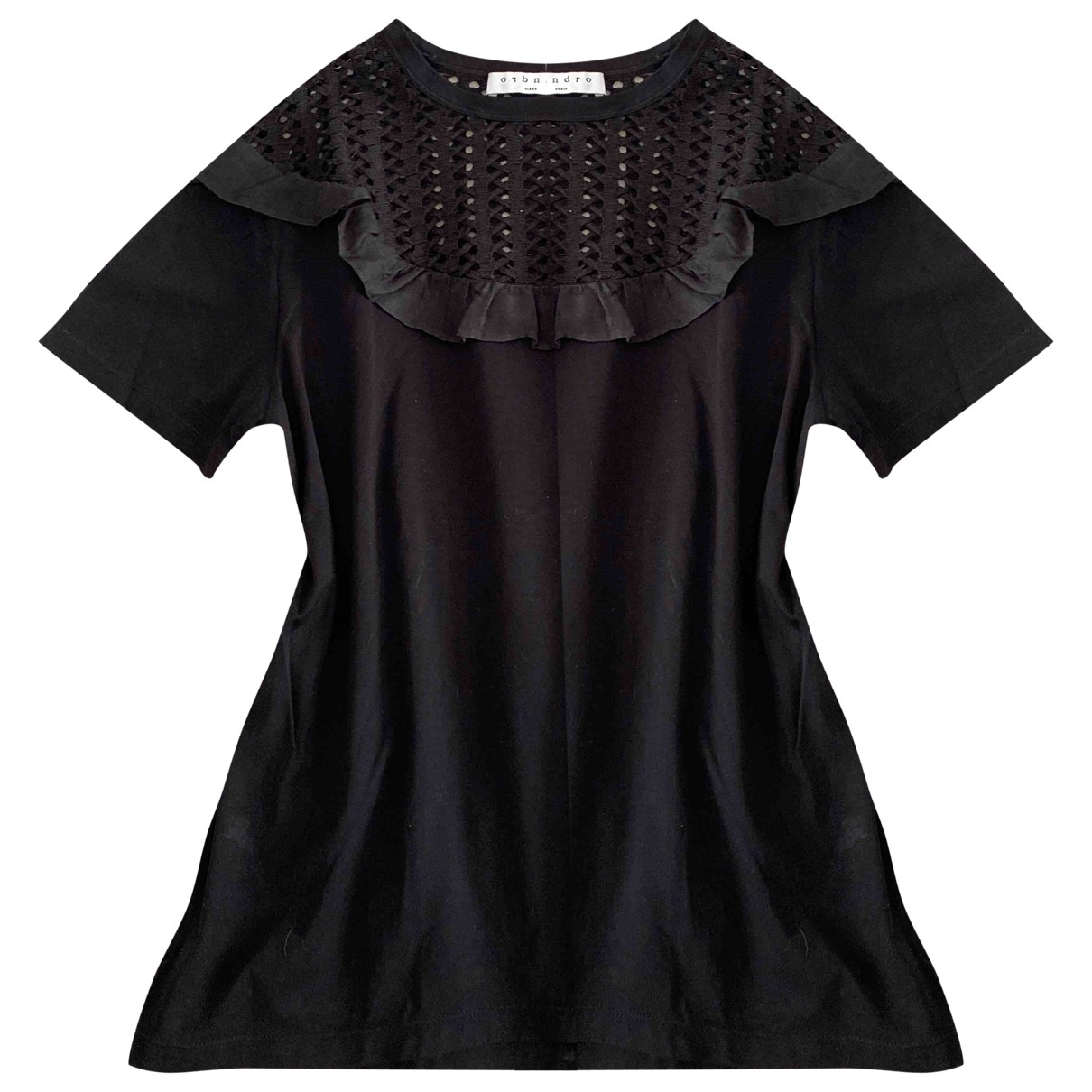 Sandro \N Black Cotton  top for Women 36 FR