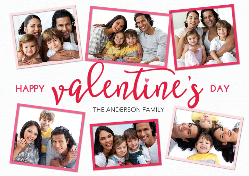 Valentine's Cards Flat Glossy Photo Paper Cards with Envelopes, 5x7, Card & Stationery -Valentine Frames