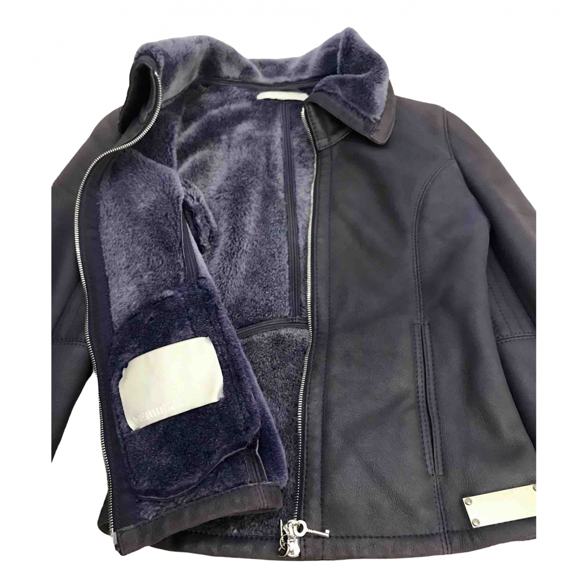 Non Signé / Unsigned \N Purple Leather jacket for Women S International