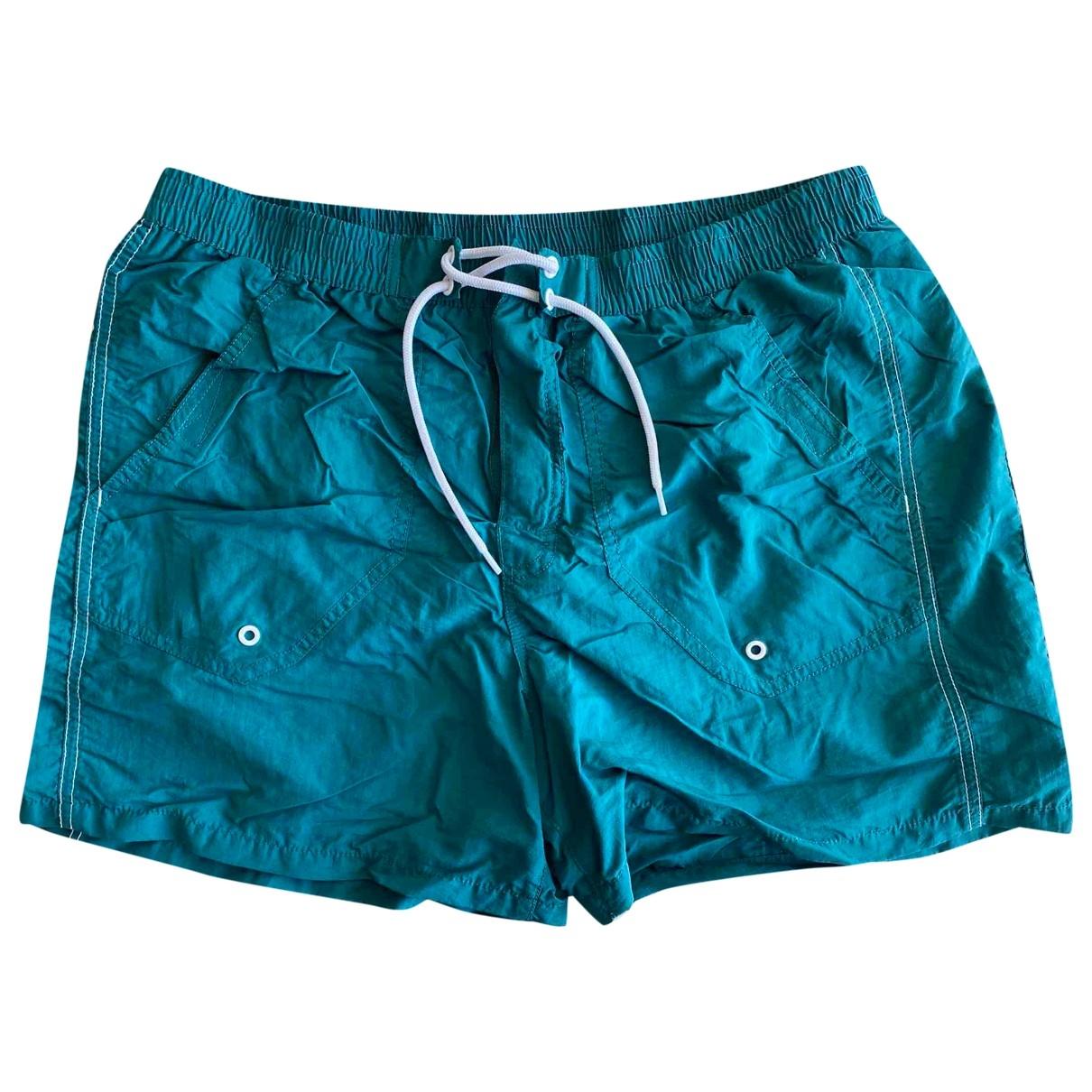Emporio Armani - Bain   pour homme en coton - elasthane - turquoise