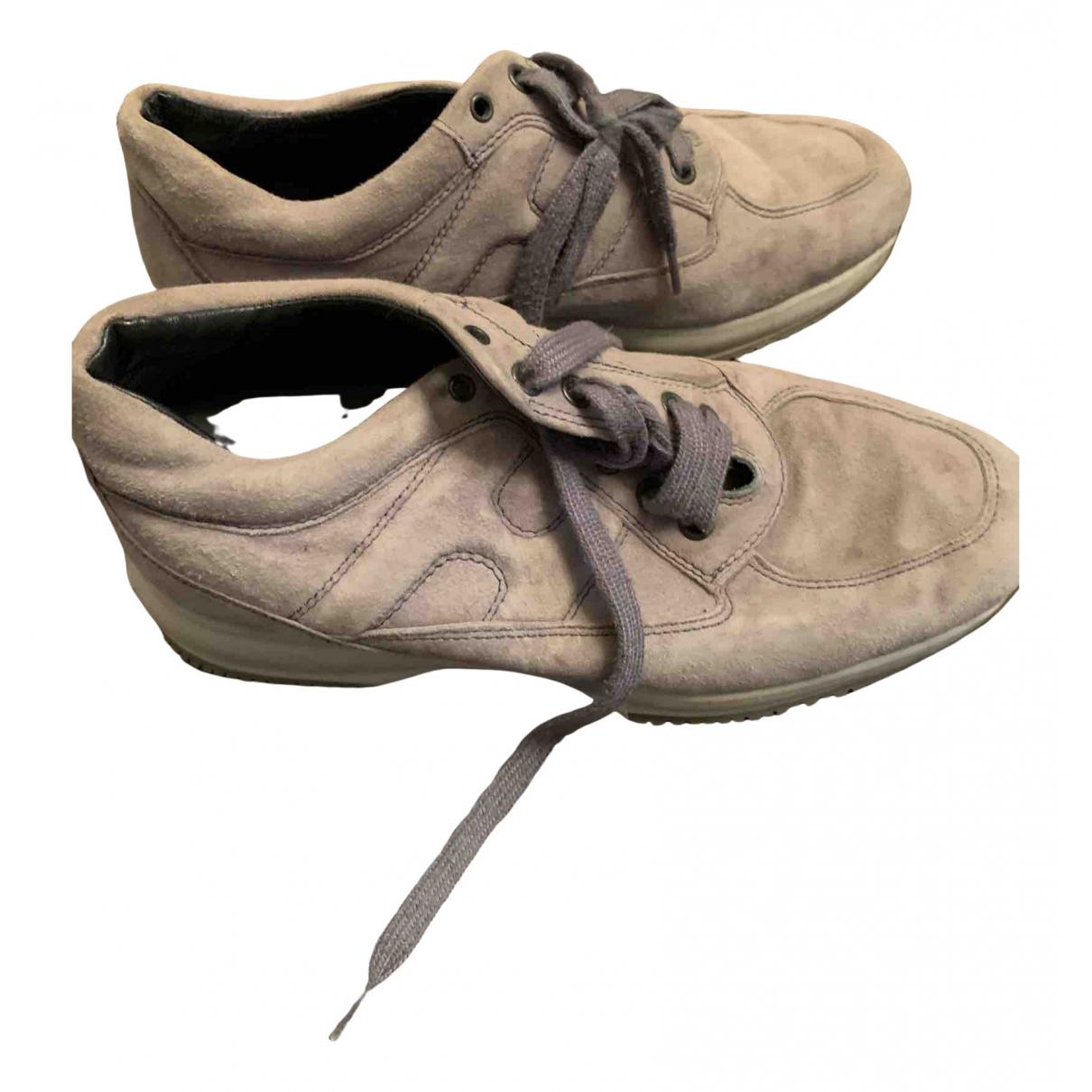 Hogan \N Sneakers in  Grau Veloursleder
