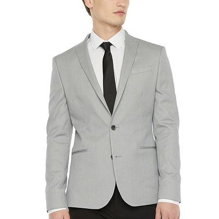JF J.Ferrar Mens Pin Dot Slim Fit Sport Coat - Slim, 44 Regular, Gray