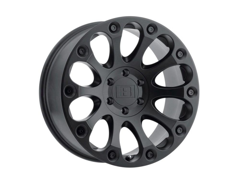 Level 8 Impact Wheel 17x8.5 6x139.70|6x5.5 12mm Matte Black