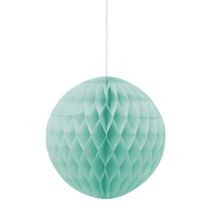 Honeycomb Paper Ball for Party Decoration 8 - Mint Green