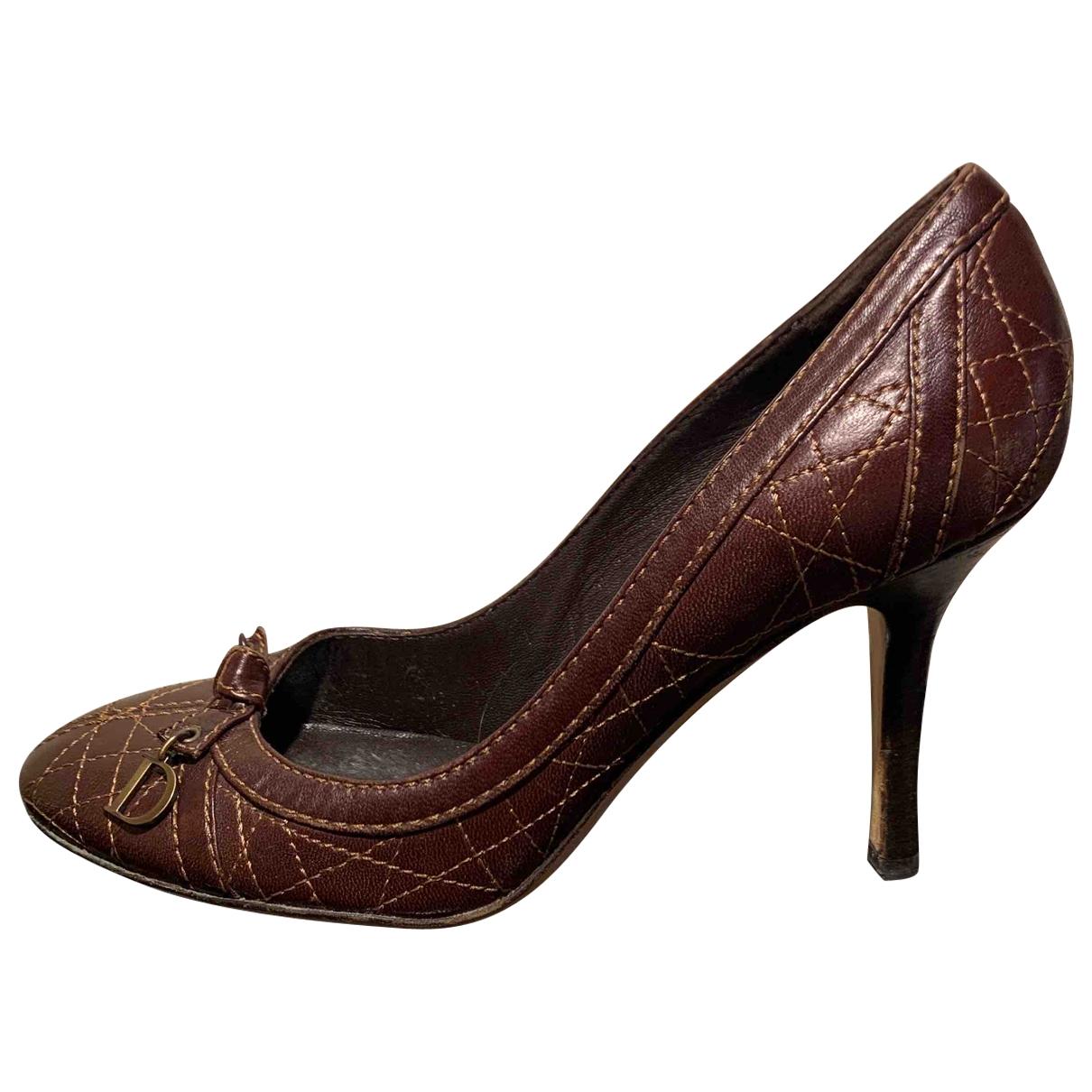 Dior - Escarpins   pour femme en cuir - marron