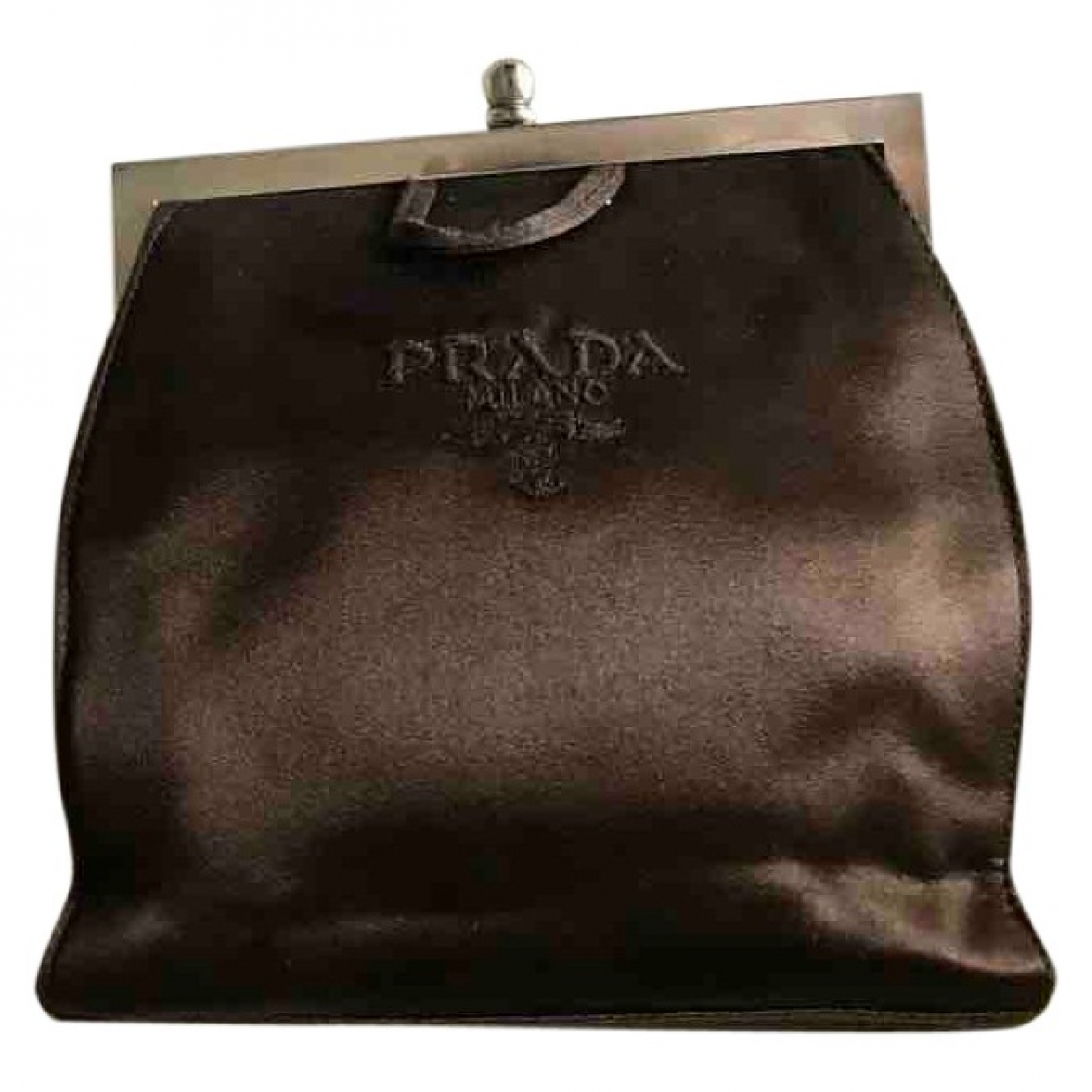 Prada \N Clutch in  Braun Leinen