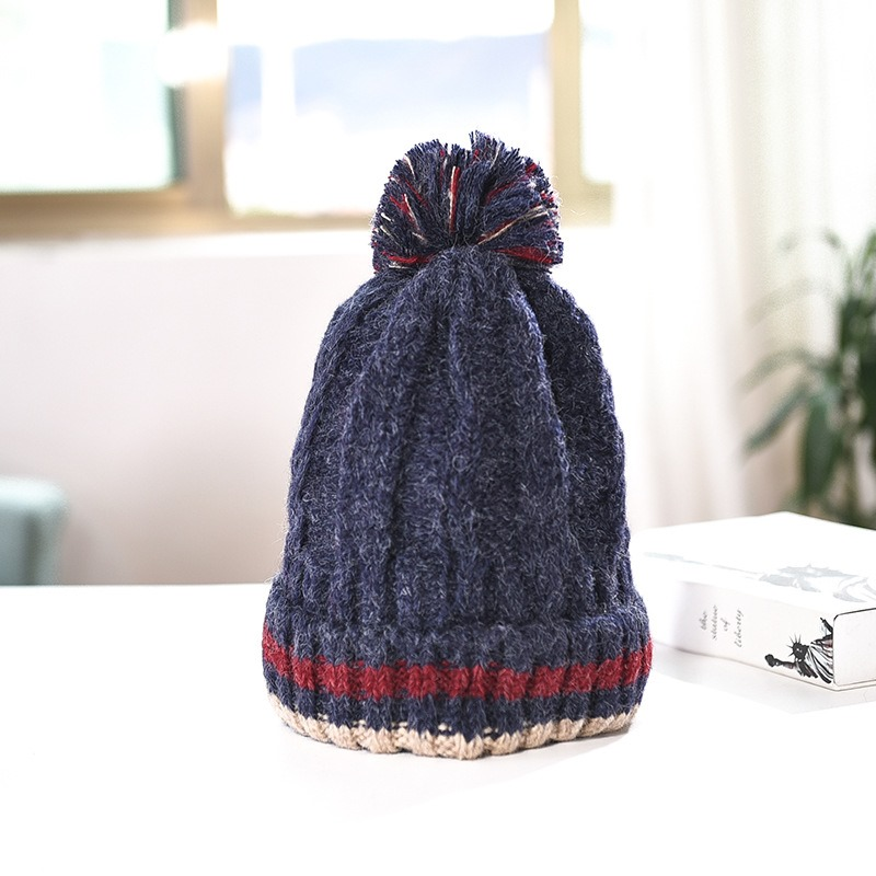 Ericdress Patchwork Knitted Stripe Fall Casual Hats