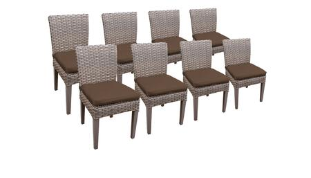 Monterey Collection MONTEREY-TKC290b-ADC-4x-C-COCOA 8 Side Chairs - Beige and Cocoa