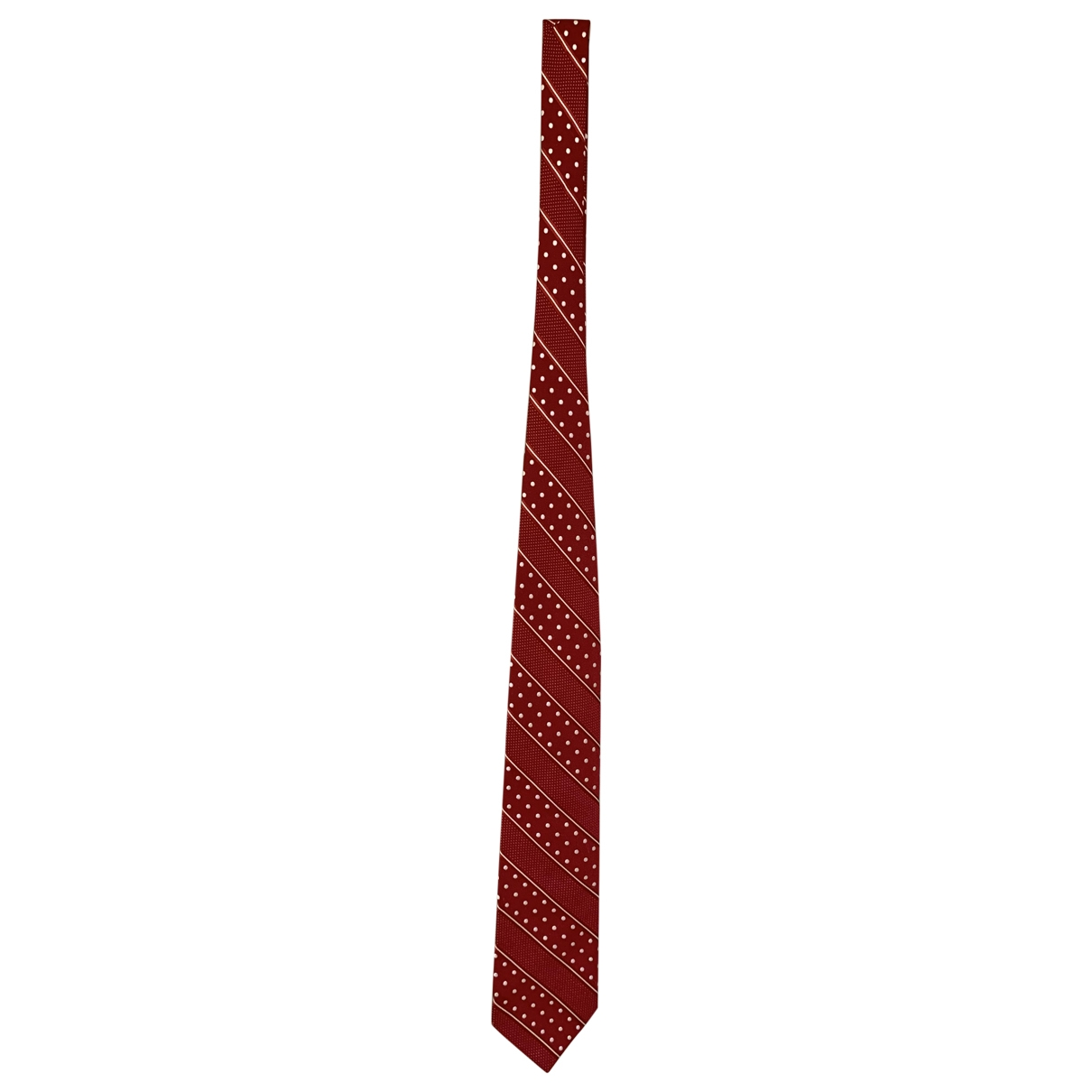 Faconnable \N Krawatten in  Rot Seide