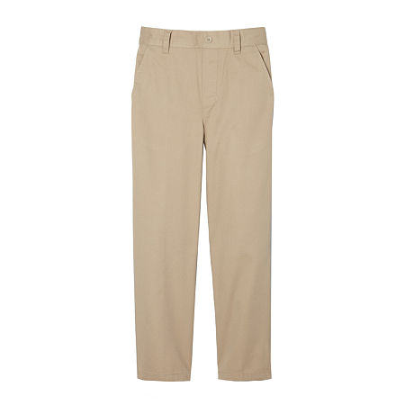 French Toast Little & Big Boys Pull On Pant, 12 Husky , Beige
