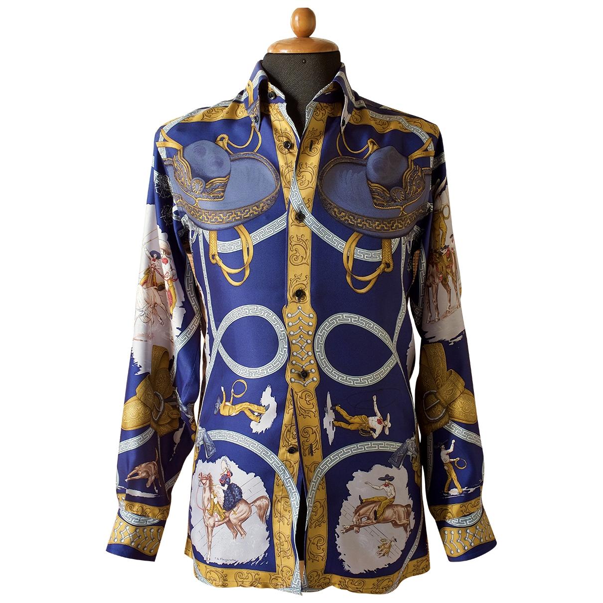 Hermès \N Multicolour Silk Shirts for Men 37 EU (tour de cou / collar)