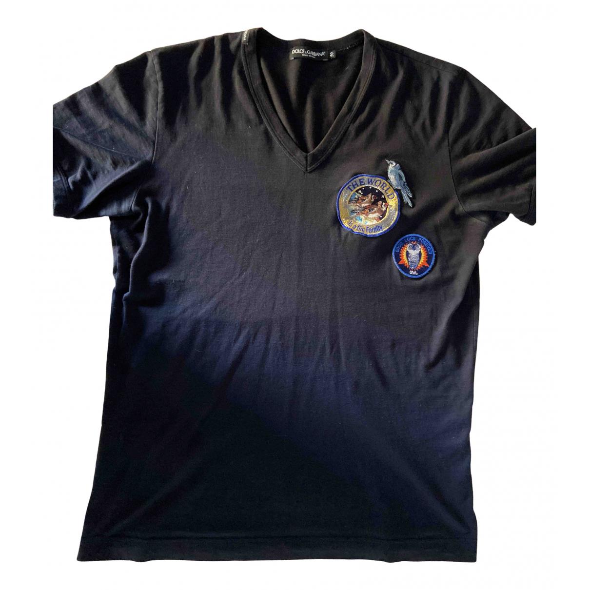 Dolce & Gabbana - Tee shirts   pour homme en coton - bleu