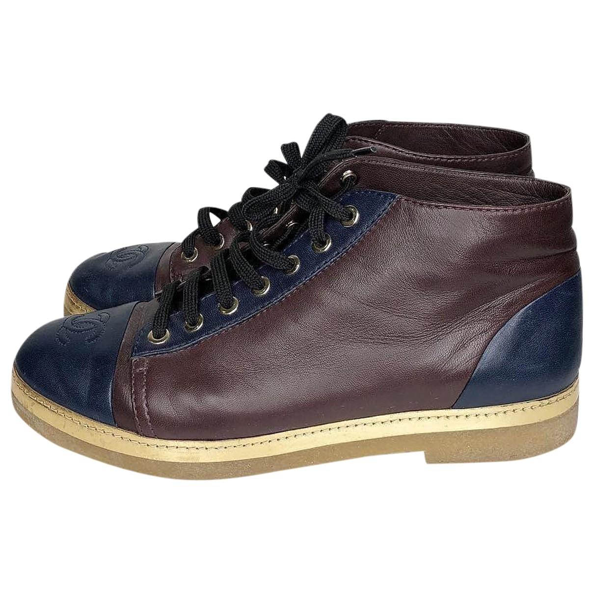 Chanel \N Sneakers in  Braun Leder
