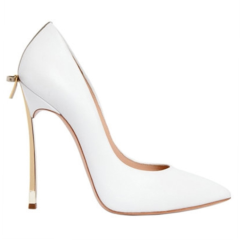 Ericdress Color Block Pointed Toe Stiletto Heel Pumps with Bowknot