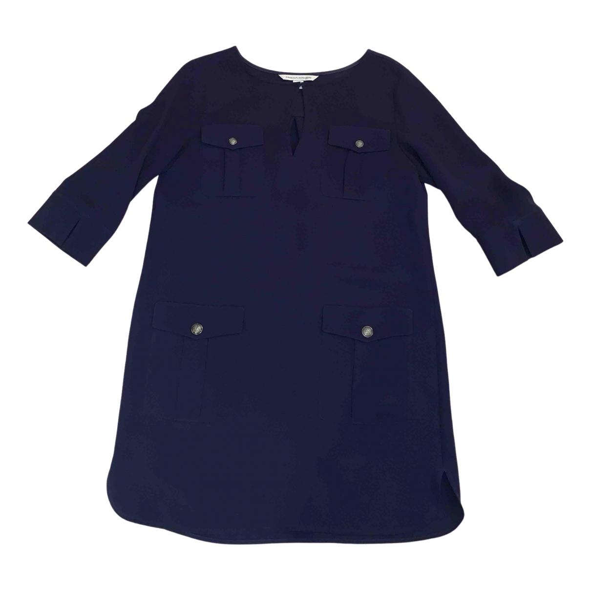 Diane Von Furstenberg N Blue Cotton dress for Women 8 US
