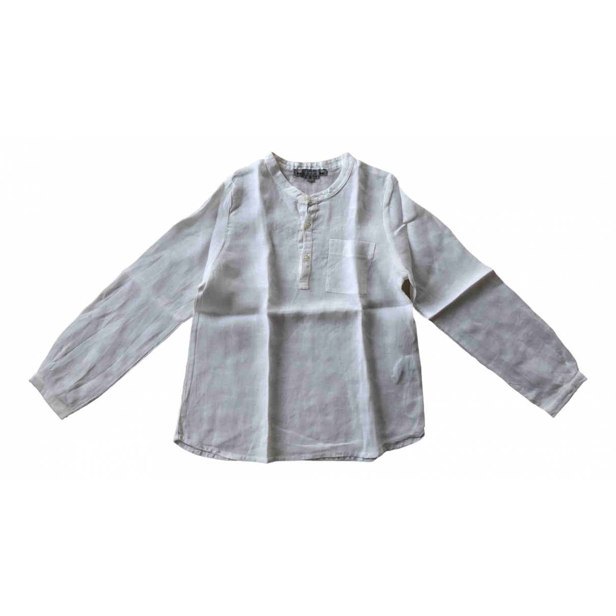 Bonpoint - Top   pour enfant en lin - blanc