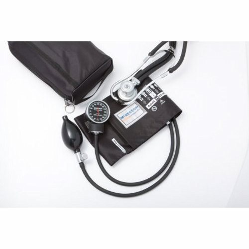 Aneroid Sphygmomanometer Combo Kit - Black 1 Count by McKesson