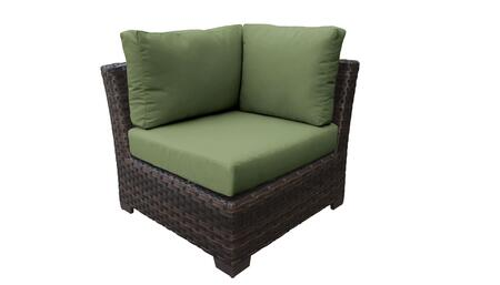 KI043b-CS-CILANTRO Kathy Ireland Homes and Gardens River Brook Corner Chair - 1 Set of Truffle and 1 Set of Forest