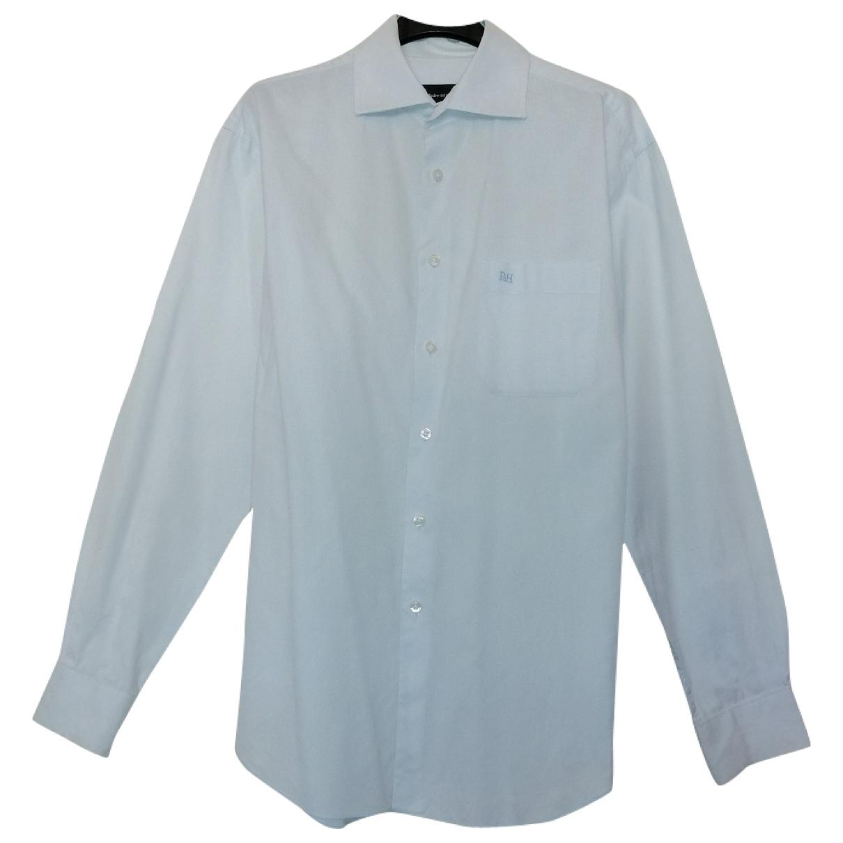 Pedro Del Hierro - Chemises   pour homme en coton - bleu