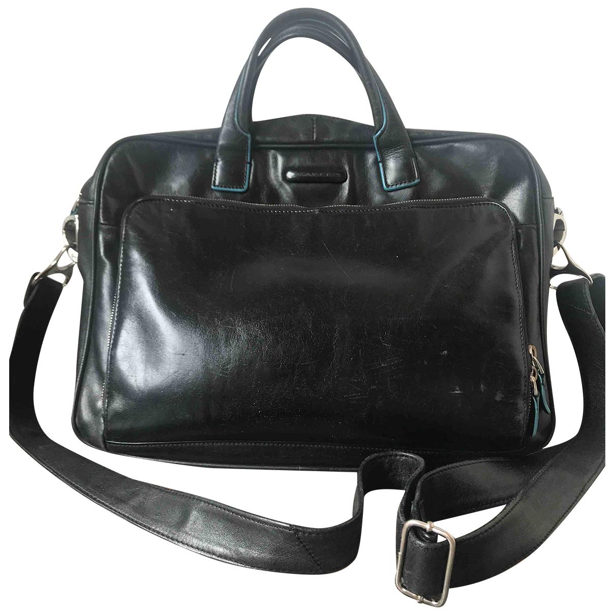 Piquadro \N Black Leather bag for Men \N