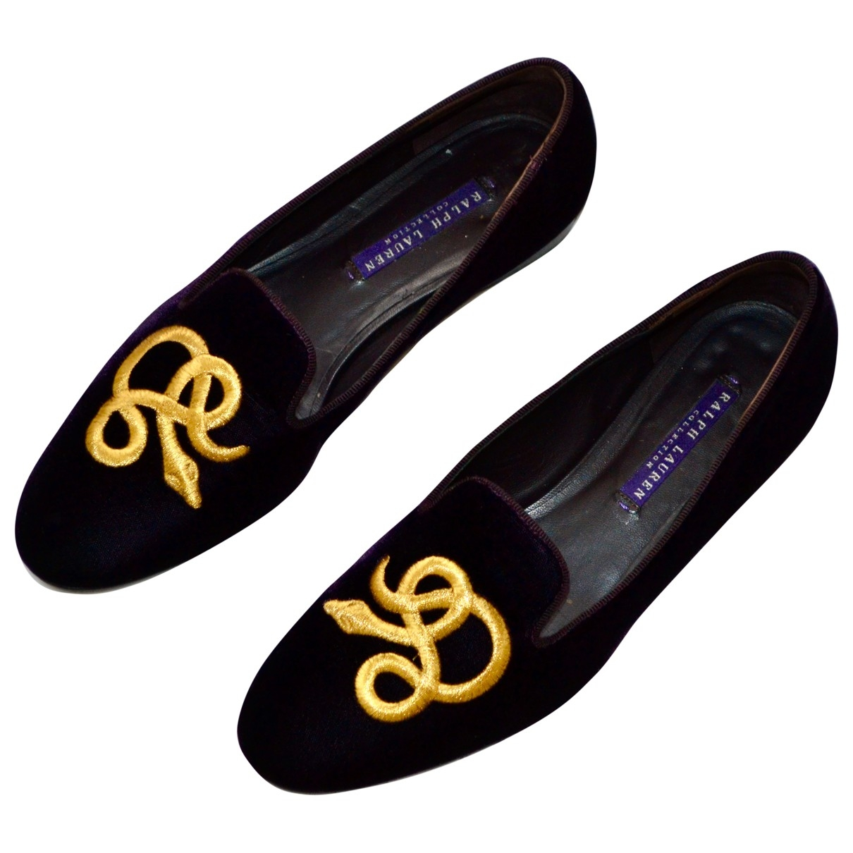 Ralph Lauren Collection \N Purple Velvet Flats for Women 37 IT